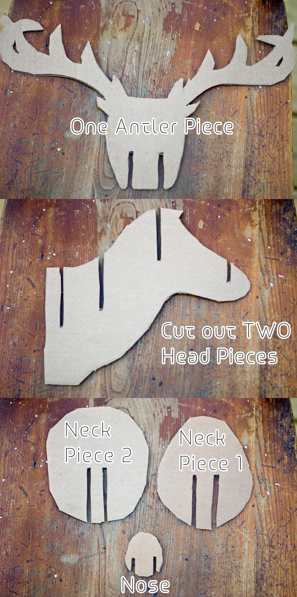 Teen diy diy faux taxidermy deer for Free cardboard taxidermy templates